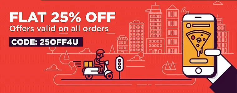 Flat 25% OFF Via DoorDash Promo Code For New Users