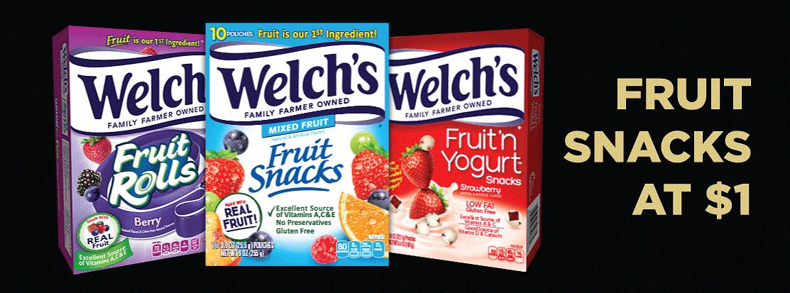 Fruit Snacks Starting At $1