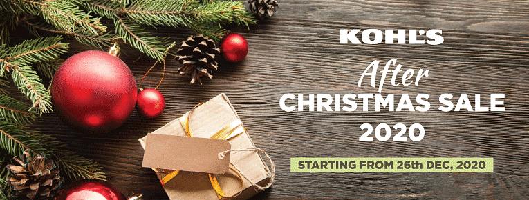 Kohl's After Christmas Sale 2020