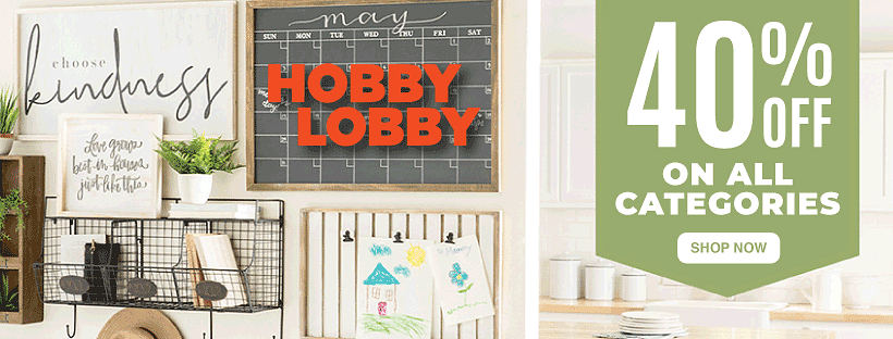 Hobby Lobby 40 Off Coupons October Special Get Discounts On Home Decor Art Supplies And More
